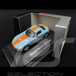 Mercedes - Benz SLS AMG Coupe n° 7 Gulf Blau 1/87 Schuco 452603800
