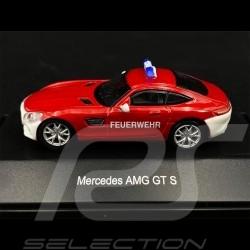 """Mercedes - AMG GT S Rouge Red Rot """" Feuerwehr """" 1/87 Schuco 452628500"""