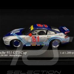 Porsche 911 GT3 Cup Type 996 n° 81 Martini Daytona 250 2003 1/43 Minichamps 400036981