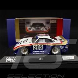 Porsche 961 Rothmans n° 206 24h Le Mans 1987 1/43 Spark WAP0209610MKED