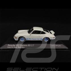 Porsche 911 Carrera RS 2.7 1972 blanc bleu white blue weiß blau 1/43 Minichamps 400065520