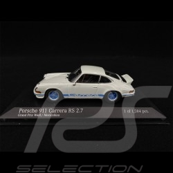 Porsche 911 Carrera RS 2.7 1972 weiß / blau 1/43 Minichamps 400065520