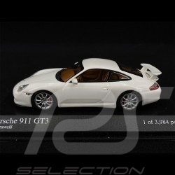 Porsche 911 type 996 GT3 2003 Blanc white weiß Carrara 1/43 Minichamps 400062022