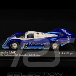 Porsche 956 K n° 19 Hockenheim 1985 1/43 Minichamps 430856699