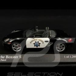 Porsche Boxter Spider Police Highway Patrol 2005 1/43 Minichamps 400065692