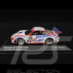 Porsche 911 GT3 RSR type 997 Le Mans  2007 n° 76 1/43 Minichamps 400076776