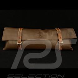 Reutter Leder Tasche Dunkel braun mit Riemen - Erste-Hilfe-Kasten enthalten