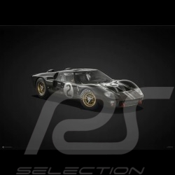 Poster Ford GT40 Noir Vainqueur winner sieger 24h Le Mans 1966 n° 2 - Colors of Speed