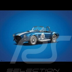 Shelby Ford Poster AC Cobra MK-3 Blau n° 14 - Colors of Speed