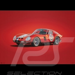 Ferrari Poster 250 GTO Rot 24h Le Mans 1962 - Colors of Speed