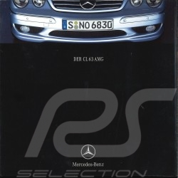 Brochure Mercedes - Benz CL 63 AMG 06/2001 in german AGZZ4023-01
