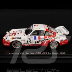 Porsche 911 Carrera RSR type 964 n° 78 Le Mans 1993 1/43 Spark S2078