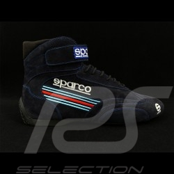 Sparco Pilot shoes Top Driver FIA boot Suede Leather Martini Racing Navy Blue - men