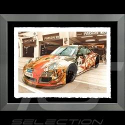 Porsche Poster Poster Porsche 911 Type 991 Cup aluminium Rahmen François Bruère - VA141