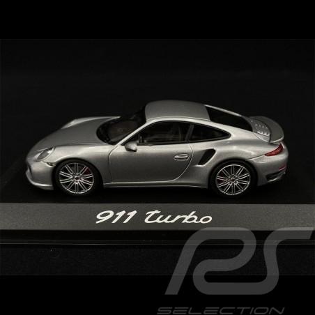 Porsche 911 type 991 Turbo Coupé 2014 silver 1/43 Minichamps WAP0203660E