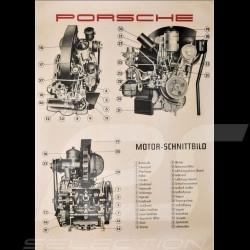 """Poster original Porsche """"Motor-Schnittbild Porsche 356 A"""" PCG35610030"""