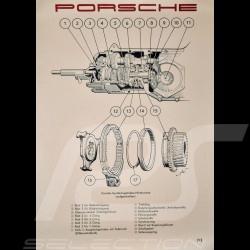 "Original Poster Porsche ""Schnittbild Synchrongetriebe Porsche 356 A"" PCG35674100"