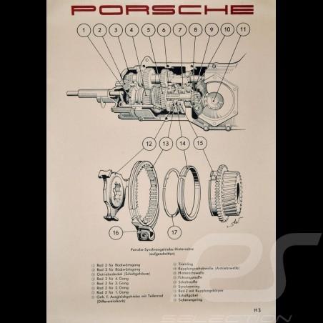 "Poster original Porsche ""Schnittbild Synchrongetriebe Porsche 356 A"" PCG35674100"