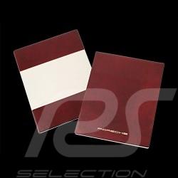 Etui pour livre de bord Porsche board folder case Bordmappe 911 / 914 / 924 / 944 / 928 Simili cuir rouge WKD48551000