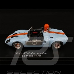 "Ford GT40 Voiture Caméra Camera car Kamera Auto Film "" Le Mans "" Gulf 1/43 Schuco 450899600"