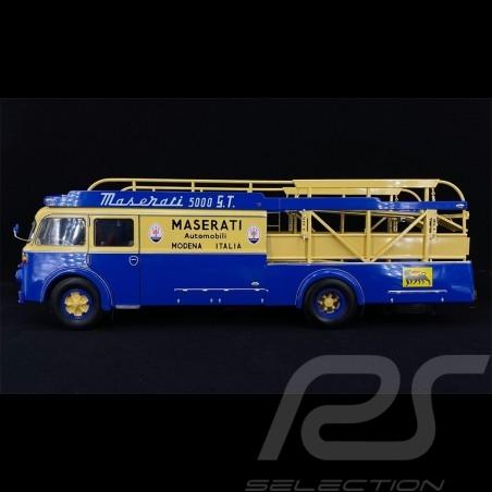 Fiat 642 RN2 Bartoletti Maserati 250F race transporteur 1957 blue / beige 1/18 CMR CMR141