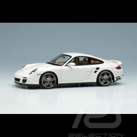 Porsche 911 Turbo Type 997 2006 Carrara White 1/43 Make Up Vision VM190C