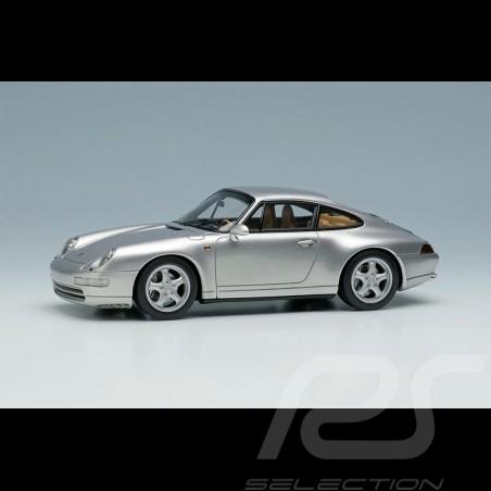 Porsche 911 Carrera 4 Type 993 1995 Polar Silver 1/43 Make Up Vision VM145A