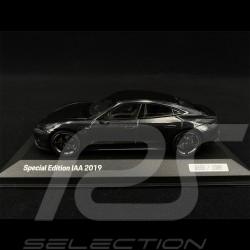 Porsche Taycan Turbo S IAA Frankfurt 2019 Gris Volcan Grey grau 1/43 Minichamps WAP0208510LIAA
