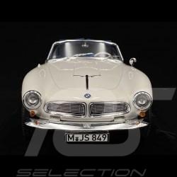 BMW 507 Cabrio 1957 White / Blue 1/18 Norev 183232