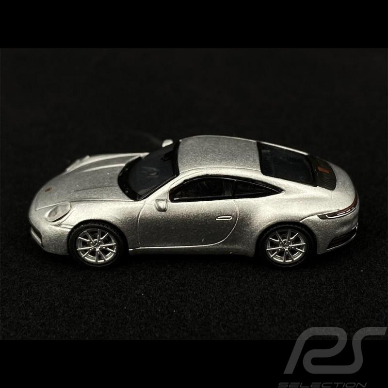 Porsche 911 Carrera S Coupe Type 992 2019 GT Silver Metallic 1/87 Schuco 452653600