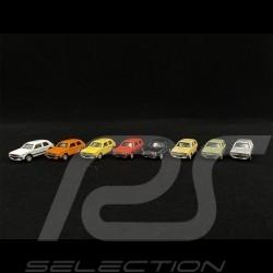 Set 4 Volkswagen Golf - 4 Volkswagen Golf GTI 1976 Verschiedene Farben 1/87 Schuco 452660300