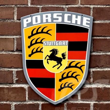 Porsche Enamel plate Vintage Porsche Crest 45 x 38 cm 64470100710