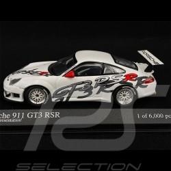 Porsche 911 GT3 RSR Type 996 Presentation 2003 White 1/43 Minichamps 400036400