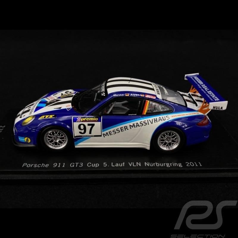 Porsche 997 GT3 Cup 5. Lauf VLN Nürburgring 2011 n°97 1/43 Spark