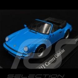 Porsche 911 Carrera Cabriolet 1983 Riviera Blue 1/43 Minichamps 430062036