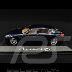 Porsche Panamera 4S 2014 bleu foncé dark blue dunkelblau métallique 1/43 Minichamps WAP0204500E