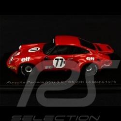 Porsche 911 RSR 3.0 n° 77 Vainqueur Classe class winner klassen sieger IMSA 24h Le Mans 1976 1/43 Spark S3531