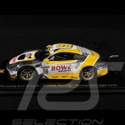 Porsche 911 GT3 R Type 991 n° 98 Rowe Racing Sieger 24h Spa 2020 1/43 Spark SB370