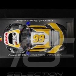 Porsche 911 GT3 R n° 99 Rowe Racing 24h Spa 2020 1/43 Spark SB392