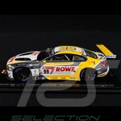 BMW M6 GT3 Team Rowe Racing Vainqueur winner sieger 24h Nürburgring 2020 1/43 Spark SG680