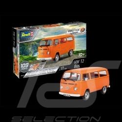 Maquette glue free model kit modell montage sans colle VW T2 Bus 1979 orange 1/24 Revell 07667