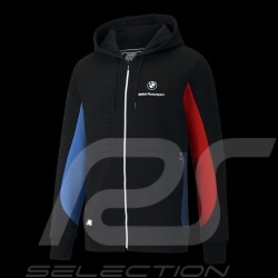 BMW M Motorsport Jacket by Puma Softshell Sweatshirt Hoodie Black / Blue / Red - Men