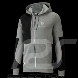 Veste BMW M Motorsport Puma Softshell Sweatshirt Hoodie Gris / Noir - homme Jacket Jacke
