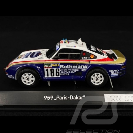 Porsche 959 n° 186 Sieger Rallye Paris - Dakar 1986 Rothmans 1/43 Spark WAP0209590NRLL
