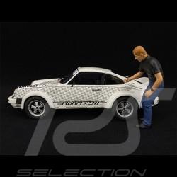 Porsche 911 Walter Röhrl x 911 Diez Classic with figurine 1/18 Schuco 450024900