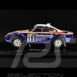 Porsche 959 n° 186 Vainqueur sieger winner Rallye Paris - Dakar 1986  Rothmans 1/18 Spark WAP0219590NRLL