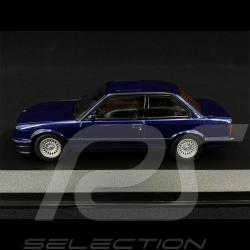 BMW Serie 3 E30 1989 Bleu blue blau Métallique 1/43 Minichamps 940024001