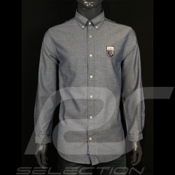 Chemise shirt hemd Gant 24h Le Mans Bleu blue blau nuit night nacht 3023030-433 - homme