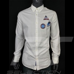 Chemise shirt hemd Gant Le Mans Classic 2020 Blanc white weiß 3026230-110 - homme