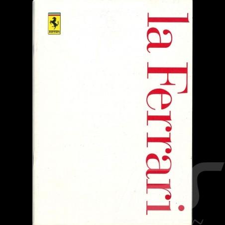 Ferrari Brochure La Ferrari 1997 Annual in Italian English 5M-04/97